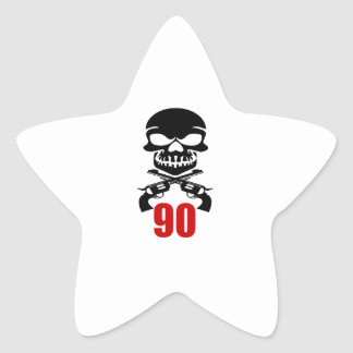 90 Birthday Designs Star Sticker