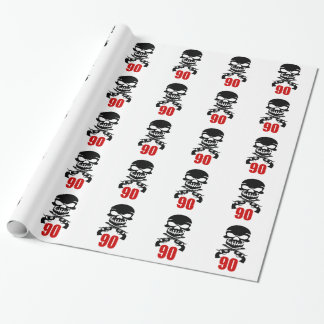 90 Birthday Designs Wrapping Paper