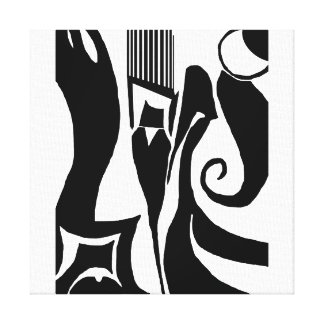 90 Black and White Abstract Canvas Print