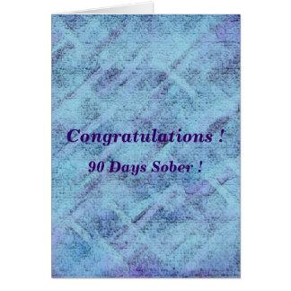 90 days sober card