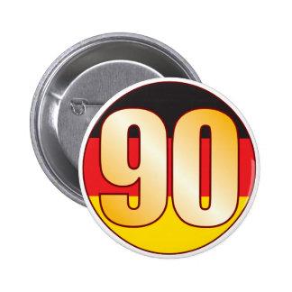 90 GERMANY Gold 6 Cm Round Badge