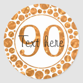 90 In Gold - 90th Birthday Party Stickers