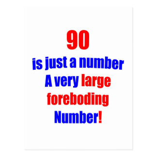 90 Is just a number Postcard