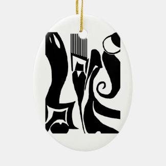90 Linoleum Print Design Ornament