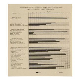 90 Males, females in occupations 1900 Poster