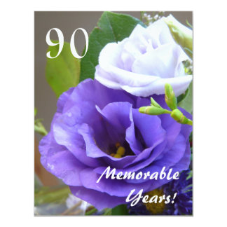 90 Memorable Years!-Birthday Celebration/+Quote Personalized Announcement