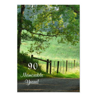 90 Memorable Years/Landscape-Birthday/Male Card