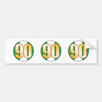 90 NIGERIA Gold Bumper Sticker