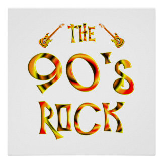 90 s Rock Poster