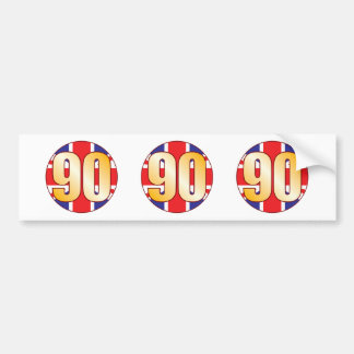 90 UK Gold Bumper Sticker