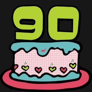 90 Year Old Birthday Cake T Shirt