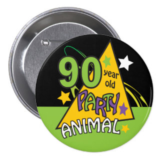 90 Year Old Party Animal | 90th Birthday 7.5 Cm Round Badge