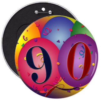 90 years Birthday balloon button - Customized