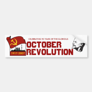 90 YEARS OCTOBER REVOLUTION BUMPER STICKER
