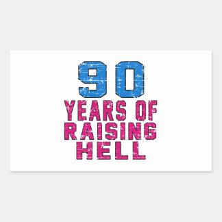 90 Years of raising hell Rectangular Sticker