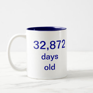 90 years old Two-Tone coffee mug