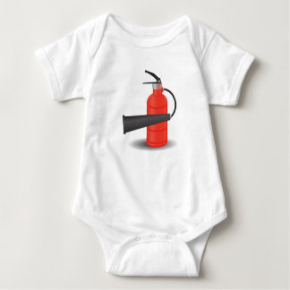 90Fire Extinguisher_rasterized Baby Bodysuit