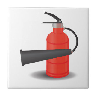 90Fire Extinguisher_rasterized Ceramic Tile