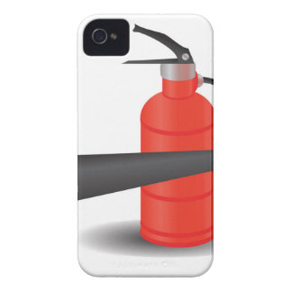 90Fire Extinguisher_rasterized iPhone 4 Case-Mate Cases
