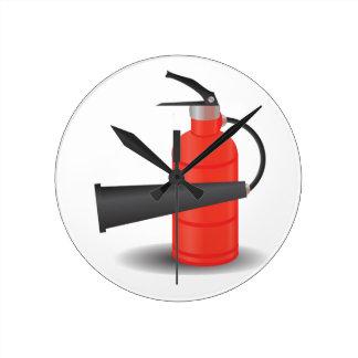 90Fire Extinguisher_rasterized Round Clock