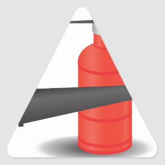 90Fire Extinguisher_rasterized Triangle Sticker