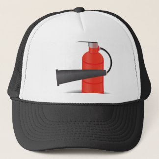 90Fire Extinguisher_rasterized Trucker Hat