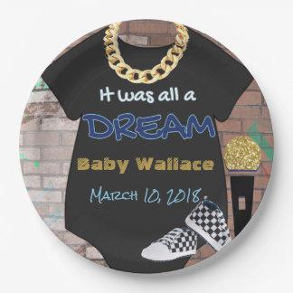 90's Hip Hop BOY Baby Shower Plates 9 Inch Paper Plate