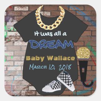 90's Hip Hop BOY Baby Shower Sticker