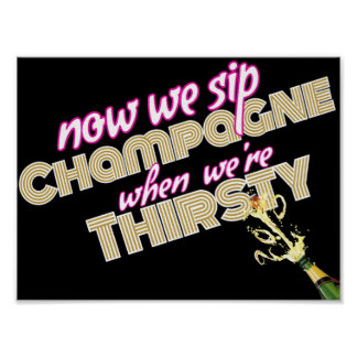 90's Hip Hop Throwback Baby Shower Champagne Sign Poster