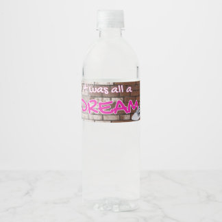 90's Hip Hop Throwback Baby Shower Water Label