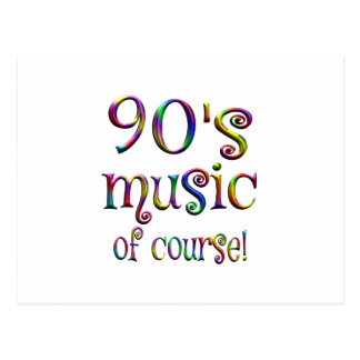 90s Music of Course Postcard