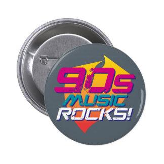 90s Music Rocks! (Light) 6 Cm Round Badge
