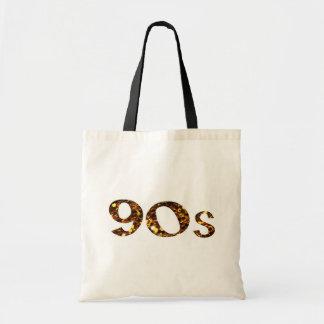 90s Nostalgia Gold Glitter Tote Bag
