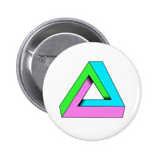 90s pop art design 6 cm round badge
