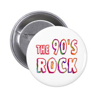 90s Rock 6 Cm Round Badge