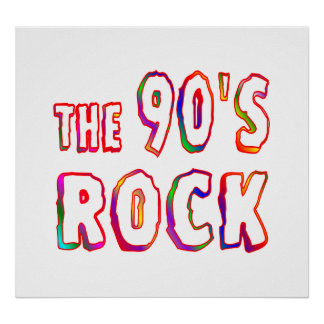90s Rock Poster