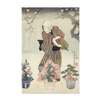 90th anniversary exhibition of Omiya Bonsai Canvas Print