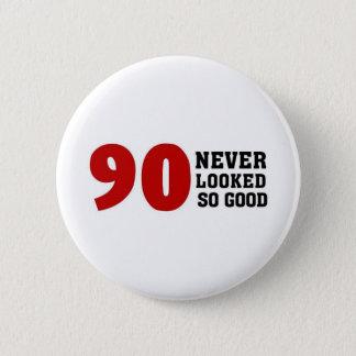 90th Birthday 6 Cm Round Badge