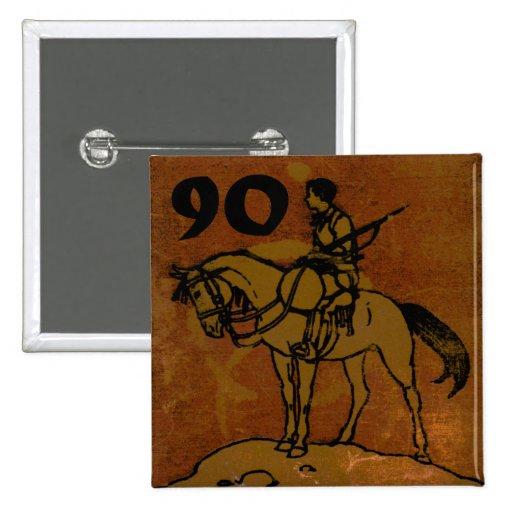 90th Birthday Pins