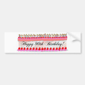 90th birthday cake bumper sticker
