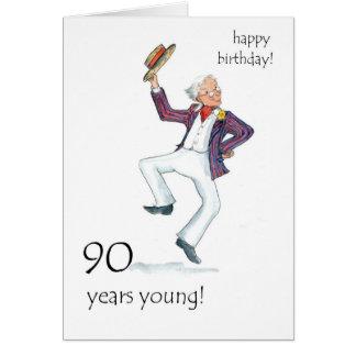 90th Birthday Card - Man Dancing!