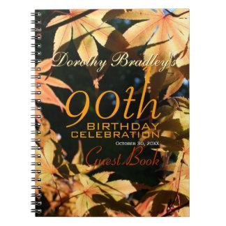 90th Birthday Celebration Autumn Custom Guest Book