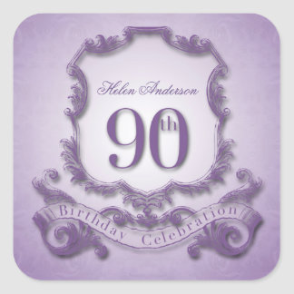 90th Birthday Celebration Personalized Stickers