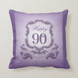 90th Birthday Celebration with Message back Pillow