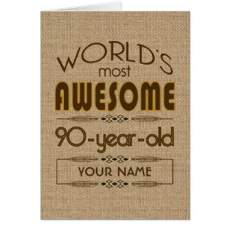 90th Birthday Celebration World Best Fabulous Greeting Card