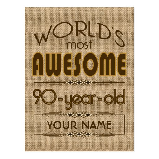 90th Birthday Celebration World Best Fabulous Post Cards