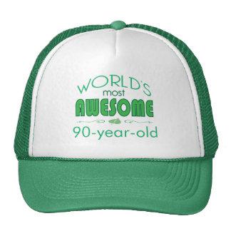 90th Birthday Celebration World's Best in Green Cap