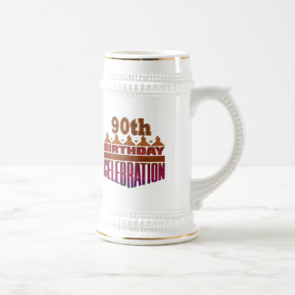 90th Birthday Celebrations Gifts Beer Stein