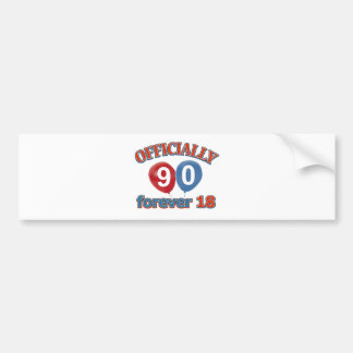 90th birthday designs bumper sticker