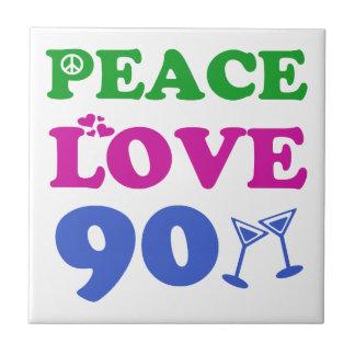 90th birthday designs ceramic tile
